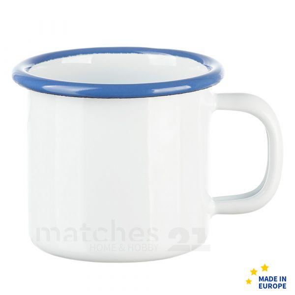 Email Becher Trinkbecher für Kinder Kindergeschirr weiß 6x6 cm / 125 ml