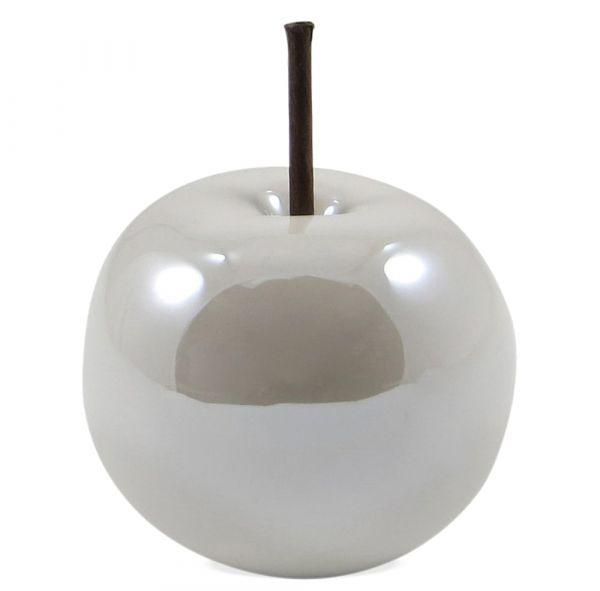 Deko Apfel Dekoobst Frühlingsdeko 1 Stk. weiß Ø 8 cm
