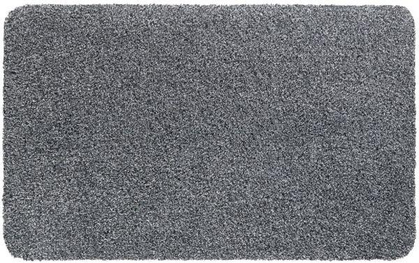 Schmutzfangmatte uni meliert Indoor saugfähig Privat Gewerbe 40x60 cm - Hellgrau