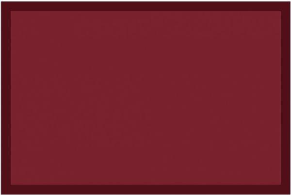 Fußmatte Fußabstreifer UNI einfarbig rutschfest waschbar 40x60 cm Farbe weinrot