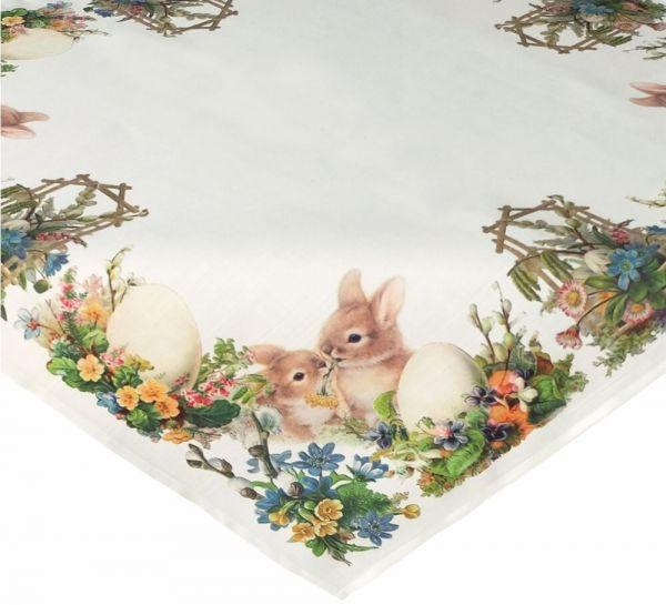 Tischdecke Mitteldecke Tischwäsche Ostern nostalgisch 85x85 cm
