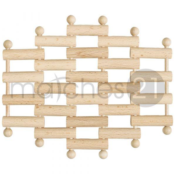 Topf-Untersetzer 18x15,5 cm flexibel Holz Kinder Bausatz Werkset Bastelset ab 8 J.
