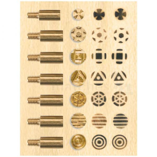 Brandmalerei Brennstempel 7er Set diverse Muster / Motive zum Dekorieren