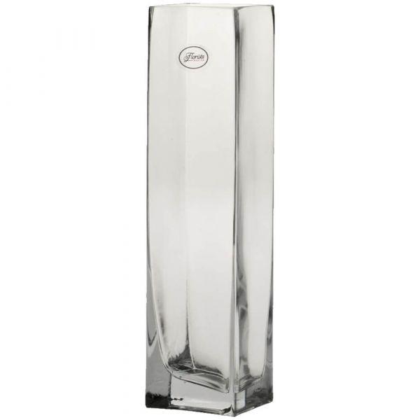 Vasen Glas Dekogläser Glasvasen Blumenvasen hoch eckig 1 Stk - 3 Größen