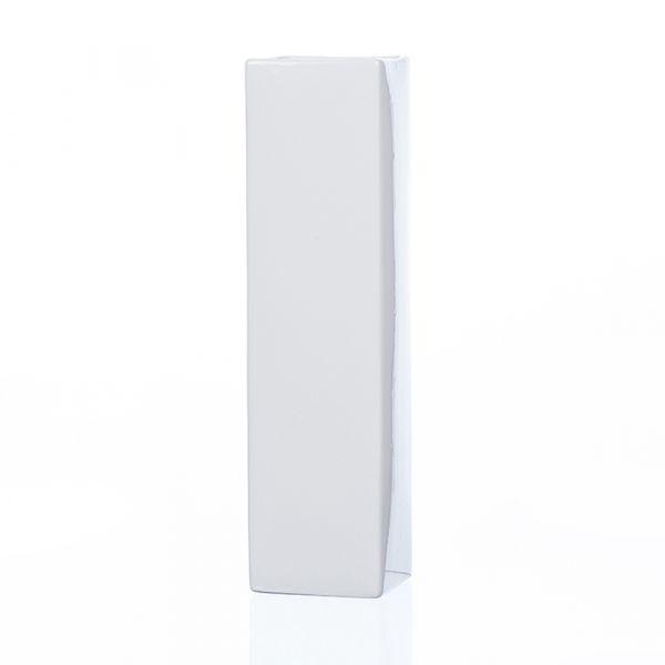 Hohe Porzellan Vase Dekovase Blumenvase Säule rechteckig weiß 7x7x24 cm