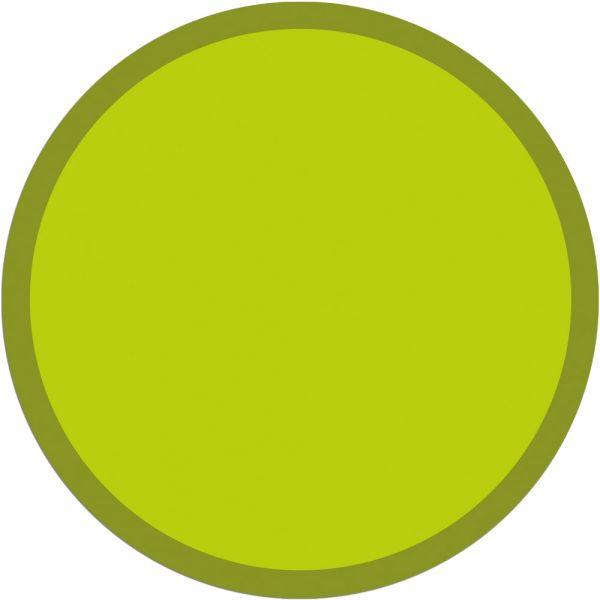 Fußmatte Türmatte Teppich UNI einfarbig rutschfest Ø 65 cm rund Farbe hellgrün