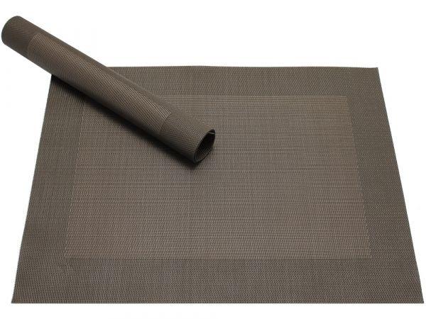 Tischset Platzset BORDA B-WARE braun dunkelbraun 1 Stk. Kunststoff gewebt abwaschbar
