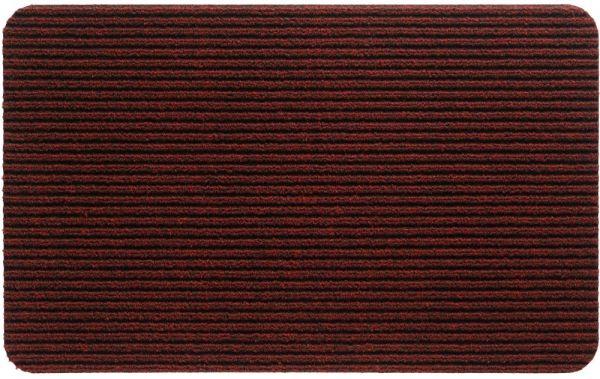 Fußmatte RIPS UNI Ripsmatte Türmatte Indoor rutschfest 40x70 cm - Rot