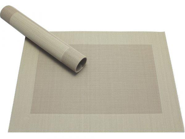 Tischset Platzset BORDA B-WARE beige 1 Stk. Kunststoff gewebt abwaschbar