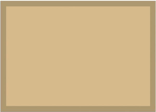 Fußmatte Fußabstreifer UNI einfarbig rutschfest waschbar 50x70 cm Farbe beige