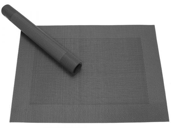 Tischset Platzset BORDA schwarz 1 Stk. Kunststoff gewebt abwaschbar