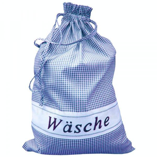Wäschesack Wäschebeutel Landhaus blau weiß kariert & Herz Wäsche Sack 45x65 cm