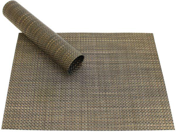 Tischset Platzset ELEGANCE schwarz / gold gewebt Kunststoff 1 Stk. 45x30 cm