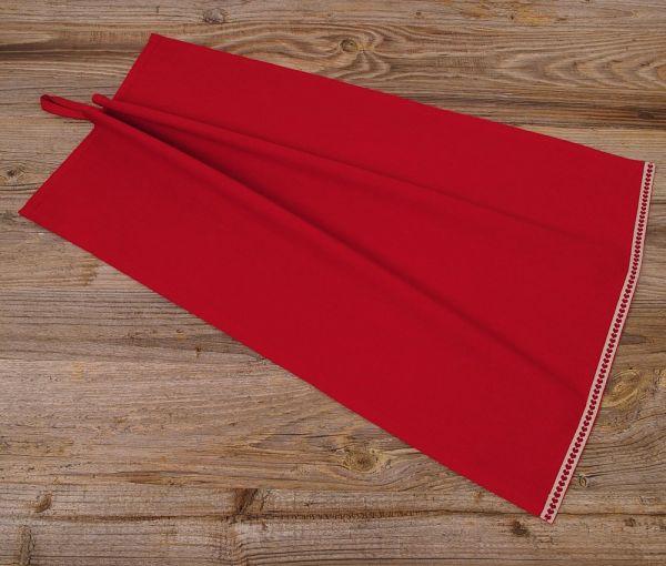 Geschirrtuch klein Landhaus Premium MARIE Textil rot Herz Bordüre 40x60 cm