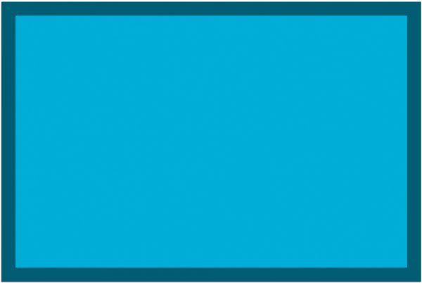 Fußmatte Fußabstreifer UNI einfarbig rutschfest waschbar 40x60 cm Farbe türkis