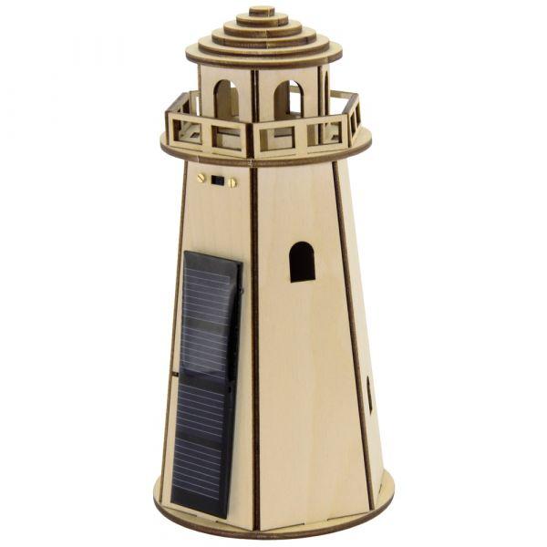 Leuchtturm Bausatz Sternenlicht mit Solarantrieb Bastelset für Kinder ab 12 J.