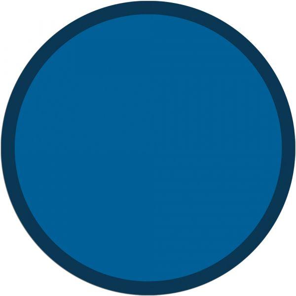 Fußmatte Türmatte Teppich UNI einfarbig rutschfest Ø 65 cm rund Farbe blau
