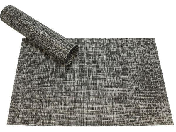 Tischset Platzset ELEGANCE grau meliert gewebt Kunststoff 1 Stk. 45x30 cm