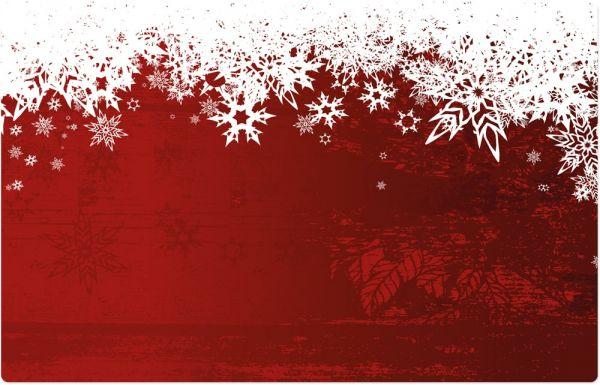 Tischset Platzset MOTIV Weihnachten Schnee rot 1 Stk abwaschbar 43,5x28,5 cm