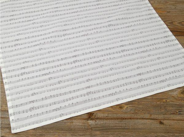 Mitteldecke Tischdecke Landhaus KLARA Notenzeilen Allover Druck 70x70 cm 1 Stk