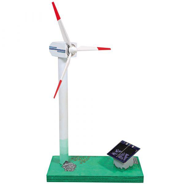 Solarbetriebener Windgenerator Bausatz Energie aus Sonne ab 12 Jahren