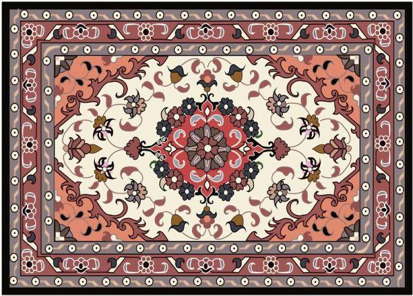 Fußmatte Fußabstreifer DECOR Perser Ornamente rot beige Orient waschbar 40x60 cm