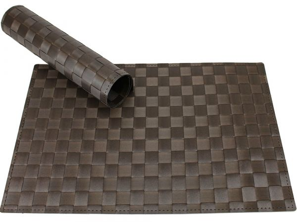 Tischset Platzset MODERN braun geflochten Kunststoff 1 Stk. 45x30 cm
