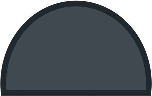 Fußmatte Fußabstreifer UNI einfarbig rutschfest 50x80 cm halbrund dunkelgrau
