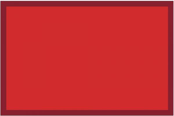Fußmatte Fußabstreifer UNI einfarbig rutschfest waschbar 40x60 cm Farbe rot