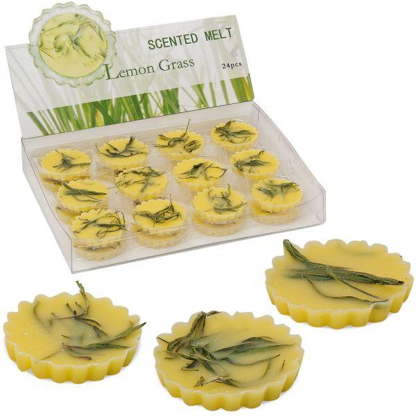 Duftwachs Lemongras Zitronengras 6 Stück Wachspads für Duftlampen intensiv