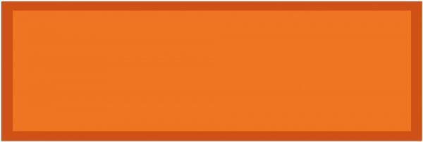 Fußmatte Teppichläufer UNI einfarbig rutschfest waschbar 50x150 cm Farbe orange