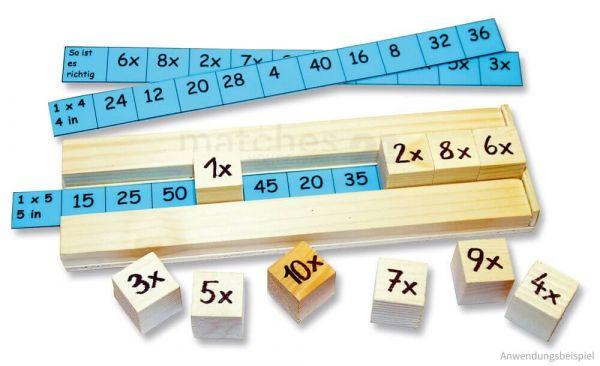 Einmaleins 1x1 Mathematik Lernspiel Bausatz Kinder Werkset Bastelset ab 7 Jahren