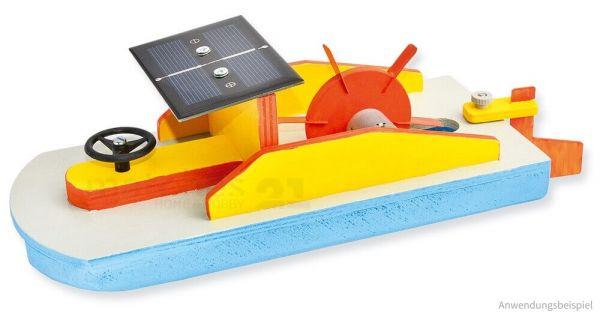 Schaufelrad Boot mit Solarantrieb Bausatz Kinder Werkset Bastelset ab 12 Jahren