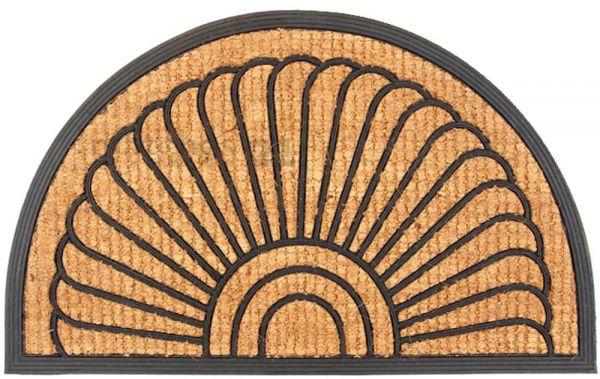Fußmatte Fußabstreifer Kokos Muschel mit Gummirand 60x100x2,0 cm eingeflochten