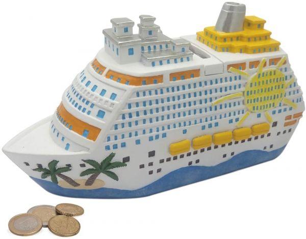 Spardose Urlaubskasse Schiff Kreuzfahrt Sparbüchse Poly 1 Stk 20x11 cm