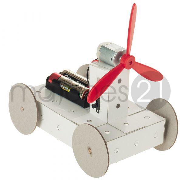Propeller Fahrzeug Karton Funktionsmodell Kinder Bausatz Werkset