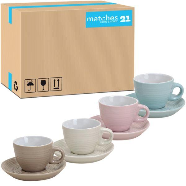 Espressotassen aus Porzellan Pastellfarben 48 Stk. Karton 5 cm / 50 ml