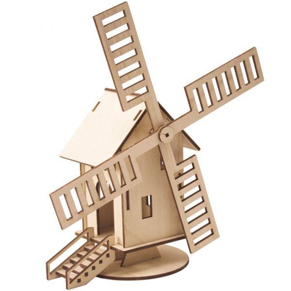 Windmühle 3D Steckbausatz Bausatz Bastelset geeignet für Kinder ab 8 Jahren