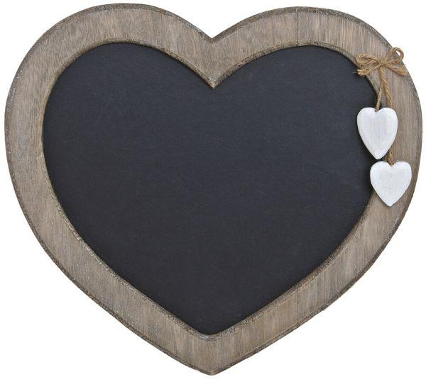Memotafel Landhausstil Herzform Wandtafel zum Hängen Kreidetafel 30x27 cm
