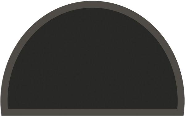 Fußmatte Fußabstreifer UNI einfarbig rutschfest 50x80 cm halbrund Farbe schwarz