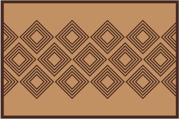 Fußmatte Fußabstreifer DECOR Ethno Muster geometrisch braun waschbar 40x60 cm
