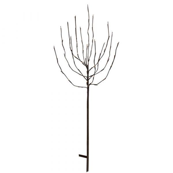 LED Baum beleuchtete Gartendeko Stecker schwarz / warmweiß 110 cm / 220V