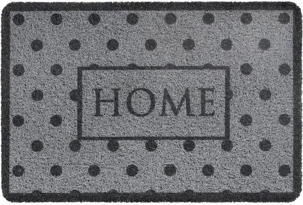 Fußmatte Türmatte Türvorleger Vinyl Outdoor grau gepunktet Home - 40x60 cm