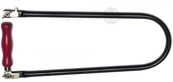 Laubsäge Laubsägebogen 13 mm Stahlrohr Ausladung 400 mm schwarz