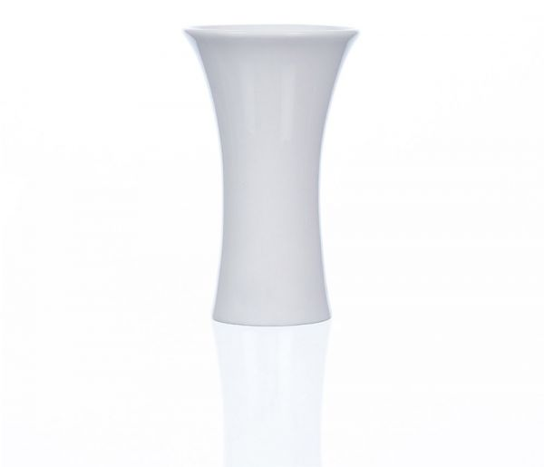 Porzellanvase rund trompetenförmig Porzellan Vase Dekovase weiß Ø7x12 cm