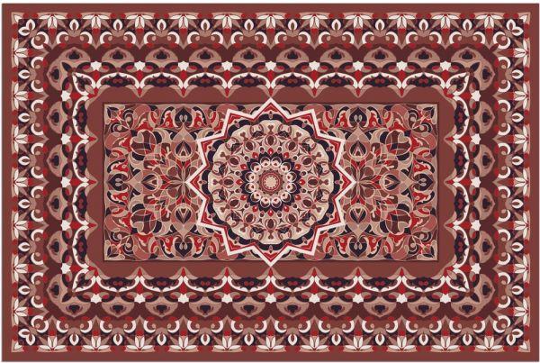 Fußmatte Fußabstreifer DECOR Perser Stern Ornamente rot beige waschbar 40x60 cm