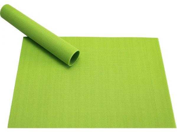 Tischset Platzset BORDA B-WARE kiwi grün hellgrün 1 Stk. Kunststoff gewebt abwaschbar