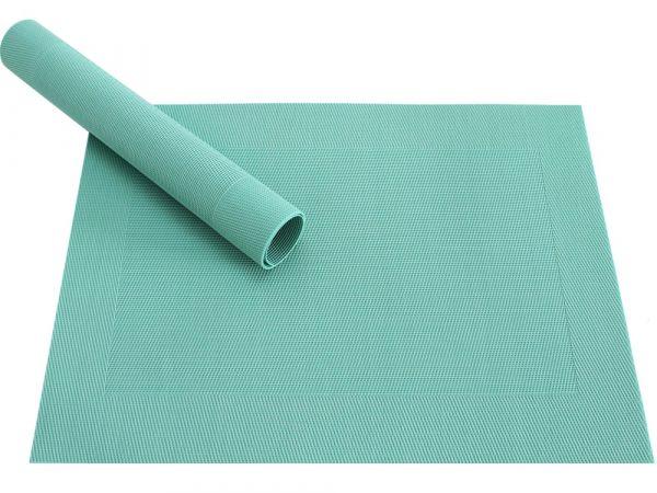 Tischset Platzset BORDA B-WARE 1 Stk. mintgrün jade Kunststoff gewebt abwaschbar
