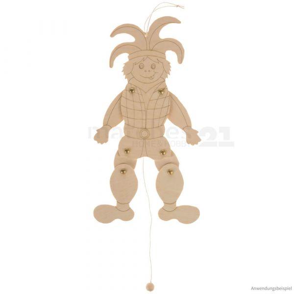 Hampelmann Hampelfigur Laubsägevorlage Bastelset Holz Bausatz Kinder ab 8 Jahre