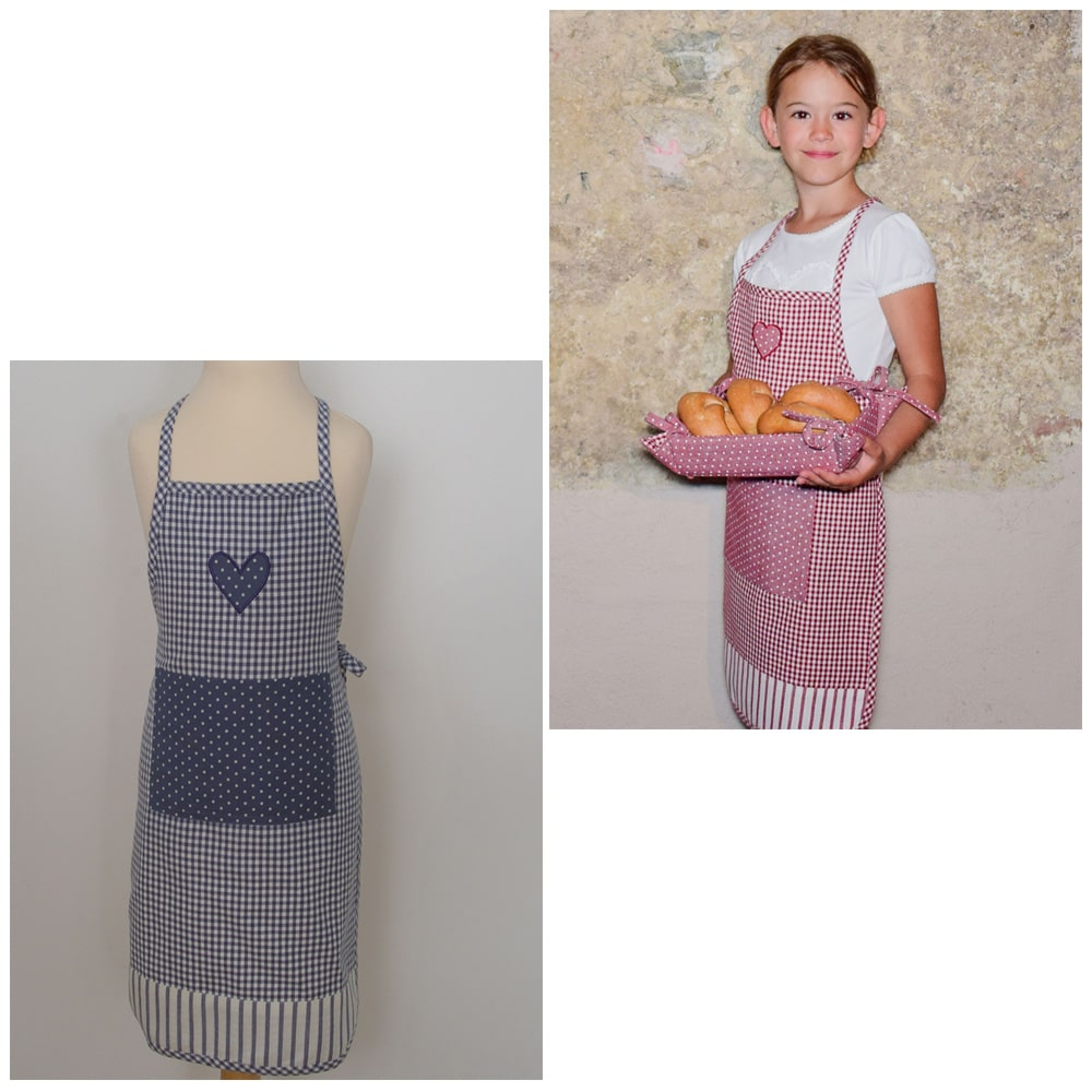 Latzschürze Schürze Kochschürze EMMA mit Rüschen Bordüren /& Tasche grau 1 Stk